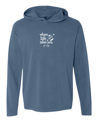 "WLTY Sweater ""Get Cozy"" Adult Hooded Long Sleeve"
