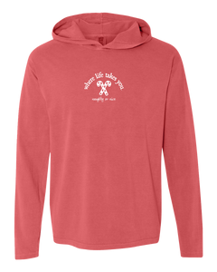 "WLTY Candy Canes ""Naughty or Nice"" Adult Hooded Long Sleeve"