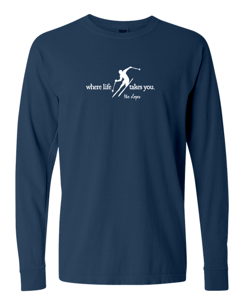 "WLTY Skiing ""Slopes"" Adult Long Sleeve T-Shirt"