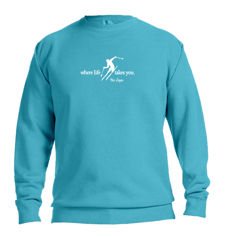 "WLTY Skiing ""Slopes"" Adult Crewneck Sweatshirt"