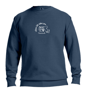"WLTY Coordinates ""Massachusetts"" Adult Crew Neck Sweatshirt"