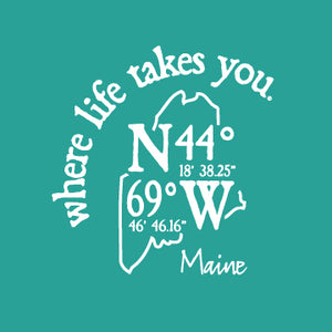 "WLTY Coordinates ""Maine"" Ladies Short Sleeve T-Shirt"