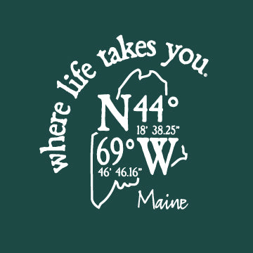 "WLTY Coordinates ""Maine"" Adult Hooded Sweatshirt"
