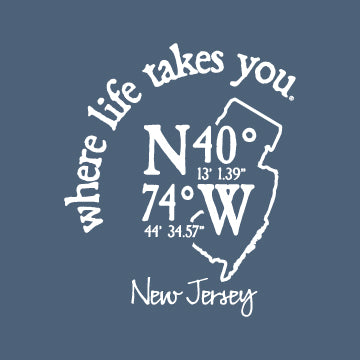 "WLTY Coordinates ""New Jersey"" Ladies Short Sleeve T-Shirt"