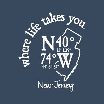 "WLTY Coordinates ""New Jersey"" Adult Hooded Long Sleeve"
