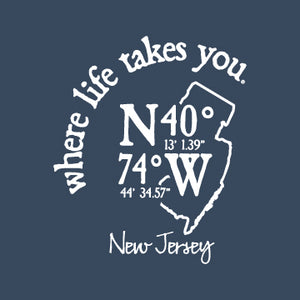 "WLTY Coordinates ""New Jersey"" Adult Long Sleeve T-Shirt"