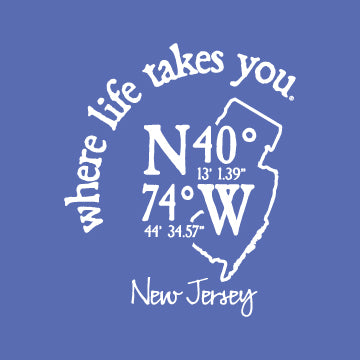 "WLTY Coordinates ""New Jersey"" Ladies V-Neck T-Shirt"
