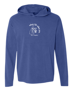 "WLTY Coordinates ""New Hampshire"" Adult Hooded Long Sleeve"