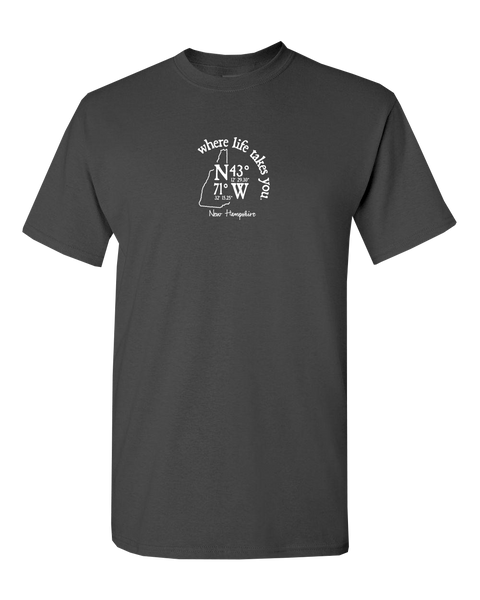 "WLTY Coordinates ""New Hampshire"" Adult Short Sleeve T-Shirt"
