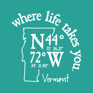 "WLTY Coordinates ""Vermont"" Ladies V-Neck T-Shirt"