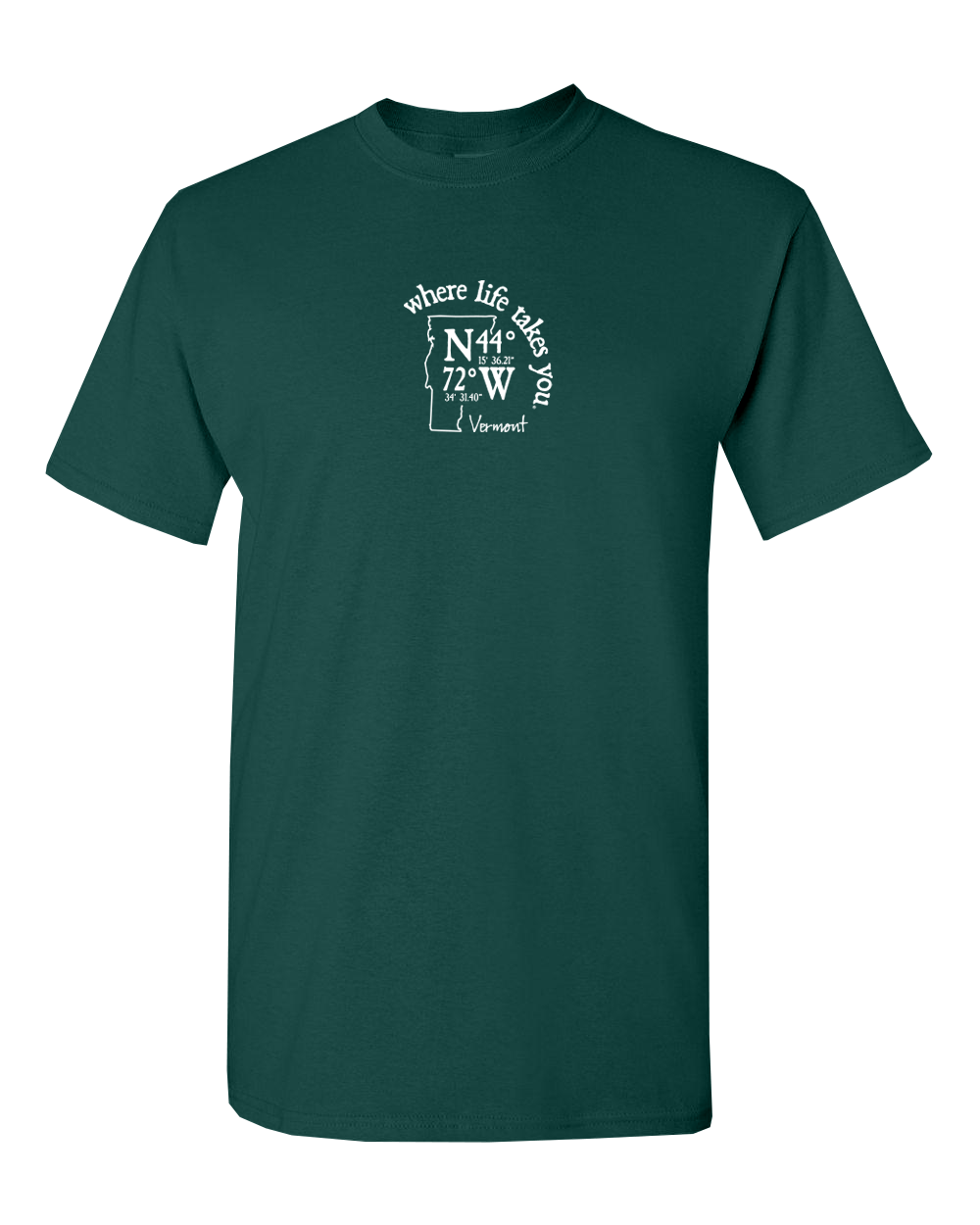 "WLTY Coordinates ""Vermont"" Adult Short Sleeve T-Shirt"