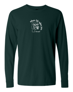 "WLTY Coordinates ""Vermont"" Adult Long Sleeve T-Shirt"