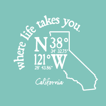 "WLTY Coordinates ""California"" Adult Hooded Long Sleeve"
