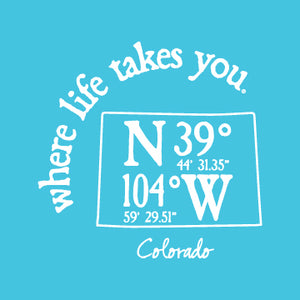 "WLTY Coordinates ""Colorado"" Ladies V-Neck T-Shirt"