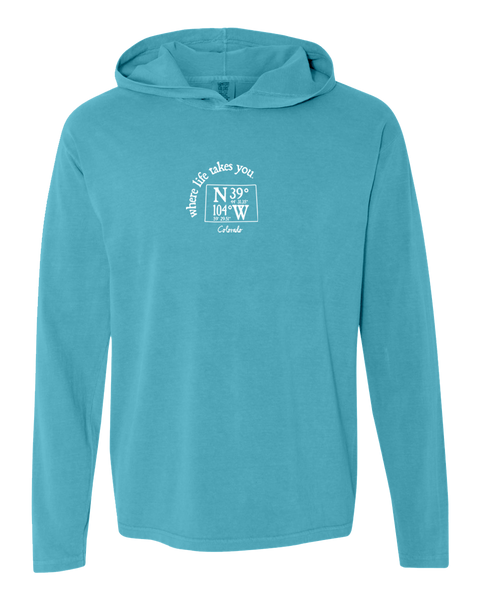 "WLTY Coordinates ""Colorado"" Adult Hooded Long Sleeve"