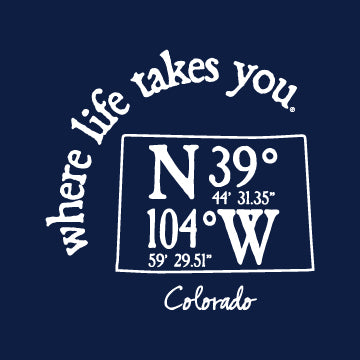 "WLTY Coordinates ""Colorado"" Adult Short Sleeve T-Shirt"