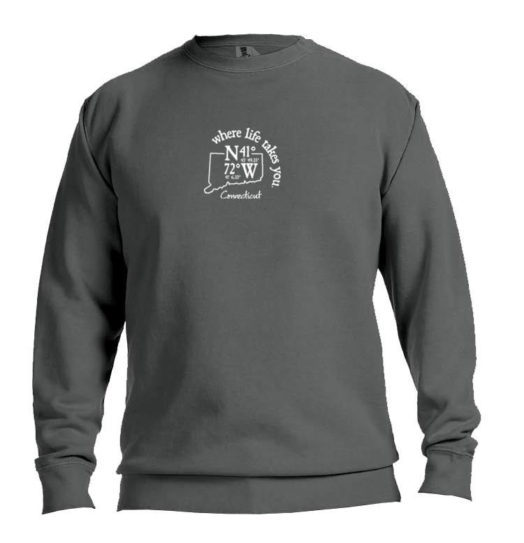 "WLTY Coordinates ""Connecticut"" Adult Crew Neck Sweatshirt"