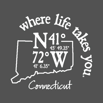 "WLTY Coordinates ""Connecticut"" Adult Hooded Long Sleeve"