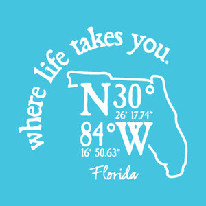 "WLTY Coordinates ""Florida"" Adult Hooded Long Sleeve"