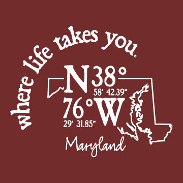 "WLTY Coordinates ""Maryland"" Adult Long Sleeve T-Shirt"