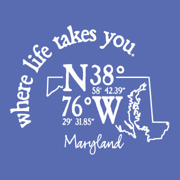 "WLTY Coordinates ""Maryland"" Ladies V-Neck T-Shirt"