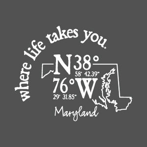 "WLTY Coordinates ""Maryland"" Adult Hooded Sweatshirt"