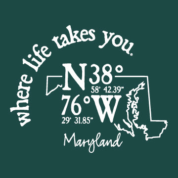 "WLTY Coordinates ""Maryland"" Adult Short Sleeve T-Shirt"