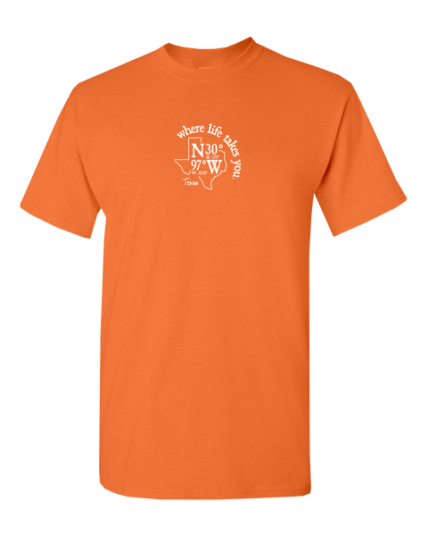"WLTY Coordinates ""Texas"" Adult Short Sleeve T-Shirt"