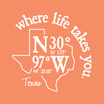 "WLTY Coordinates ""Texas"" Adult Hooded Long Sleeve"