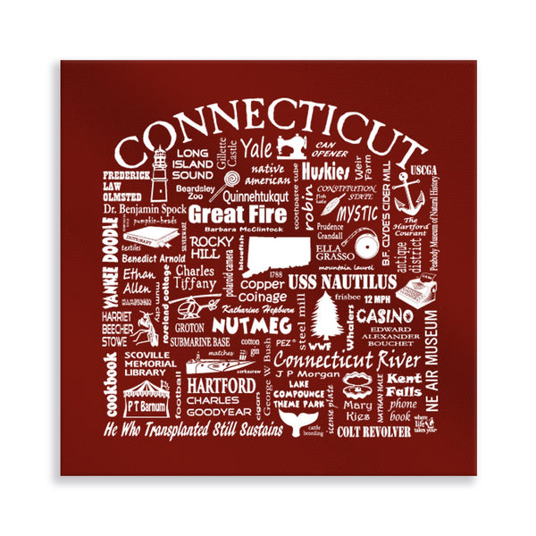Connecticut Location Gallery Wrapped Canvas (Brick)