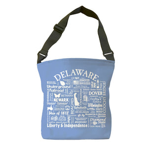 Delaware Location Tote Bag (Flo Blue)