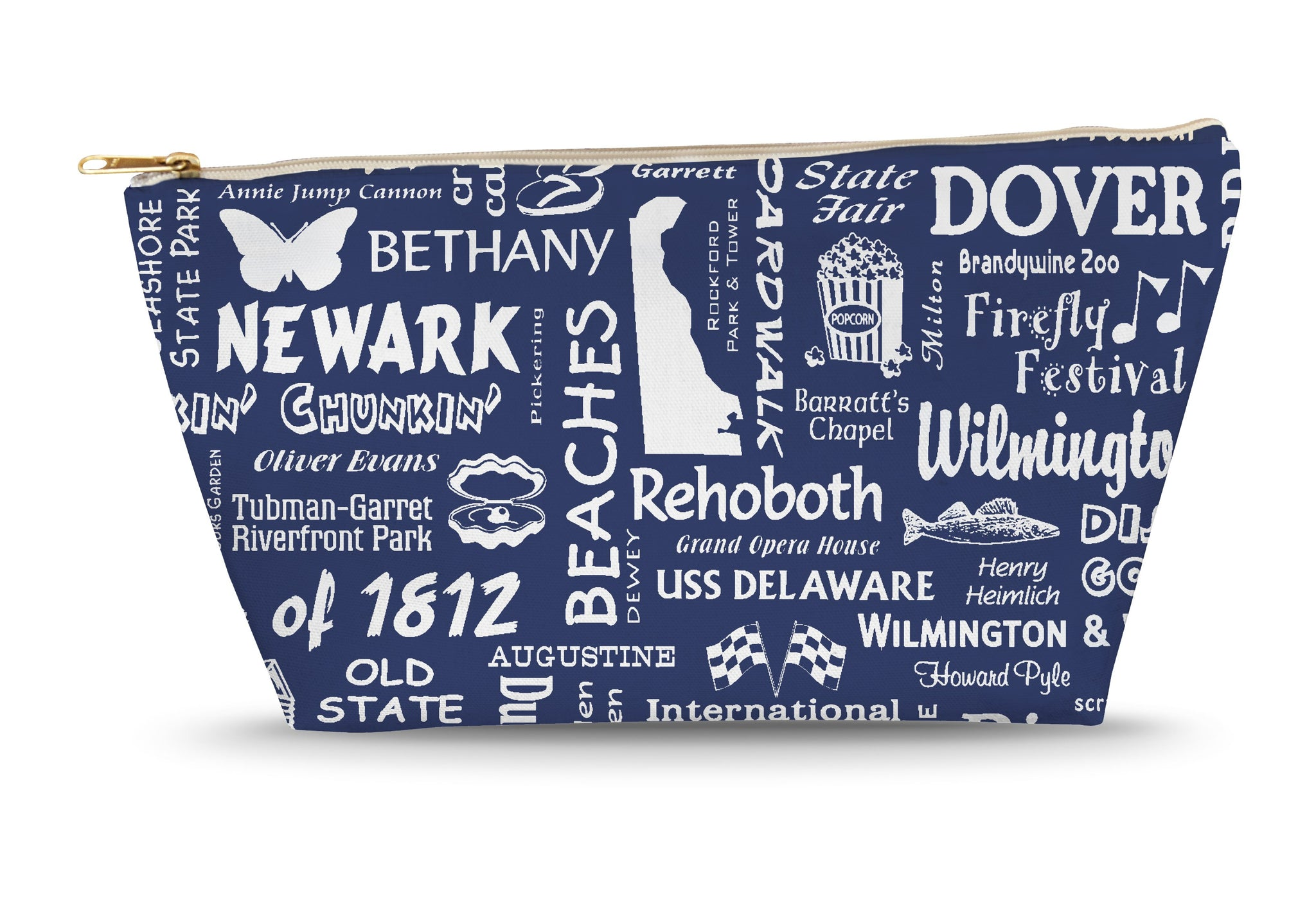 Delaware Location (Navy) Large Accessory Bag