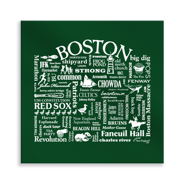 Boston Location Gallery Wrapped Canvas (Spruce)