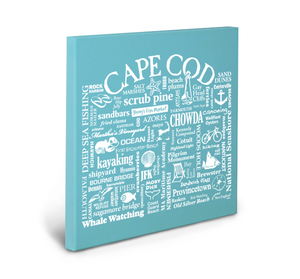 Cape Cod Location Gallery Wrapped Canvas (Lagoon)