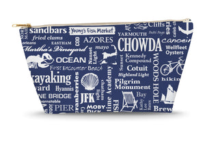 Cape Cod Location Large Accessory Bag (Navy)