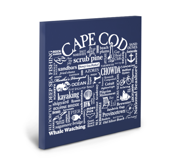 Cape Cod Location Gallery Wrapped Canvas (Navy)