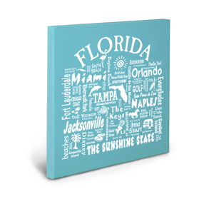 Florida Location (Lagoon) Gallery Wrapped Canvas