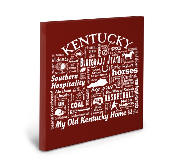 Kentucky Location (Brick) Gallery Wrapped Canvas