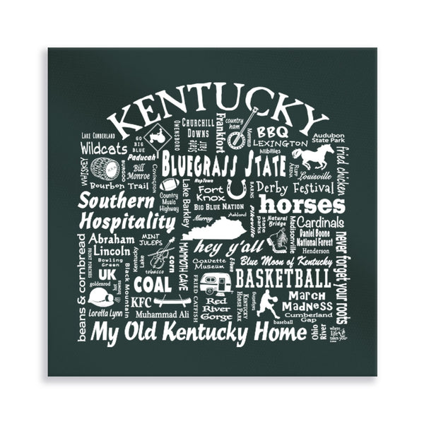 Kentucky Location (Pepper) Gallery Wrapped Canvas
