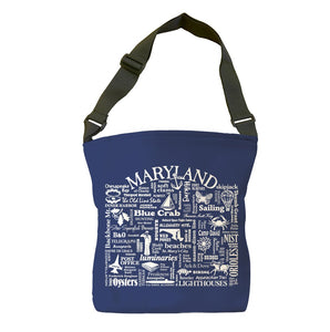 Maryland Location (Navy) Tote Bag