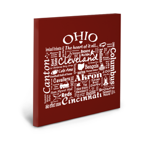 Ohio Location (Brick) Gallery Wrapped Canvas