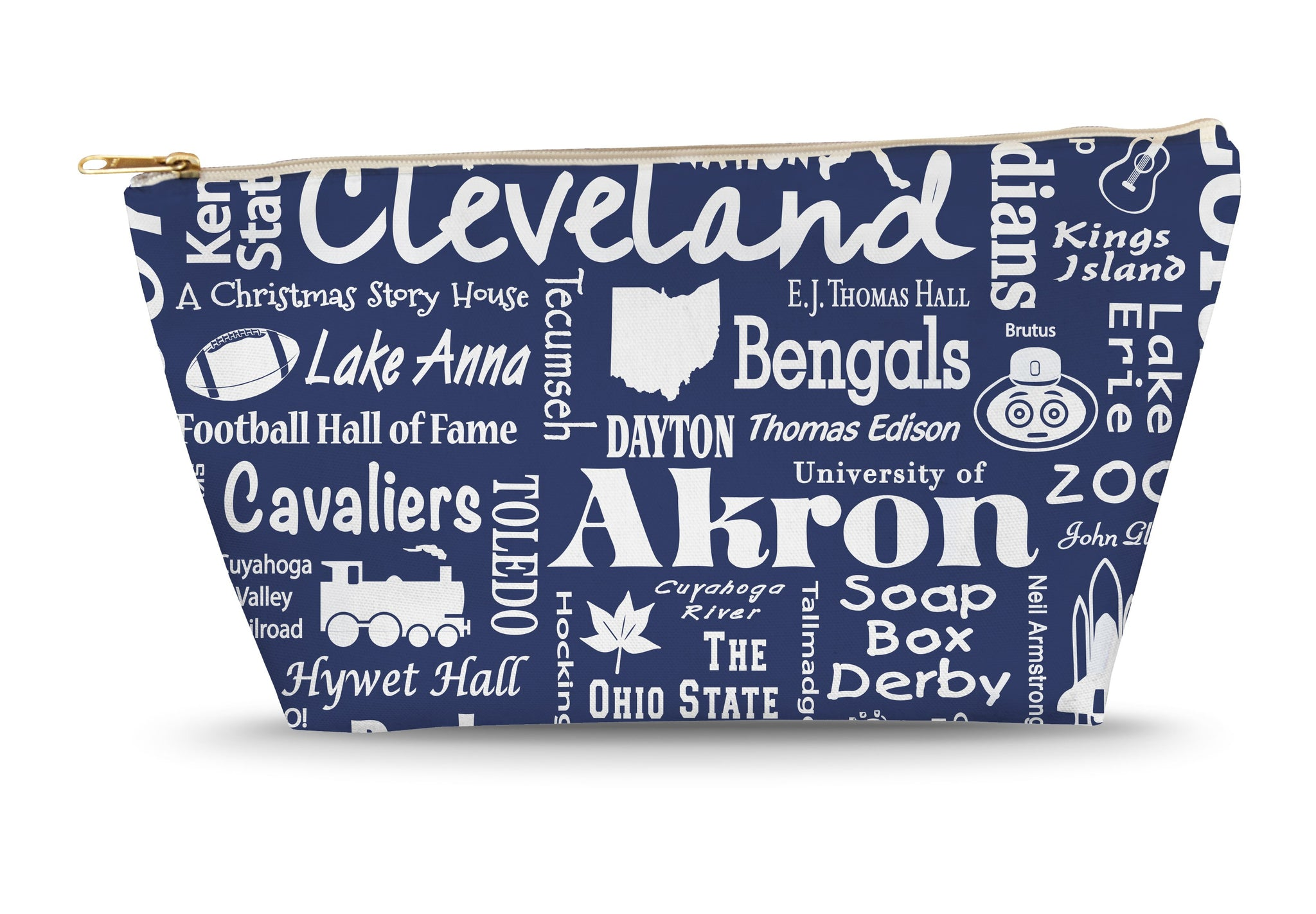 Ohio Location (Navy) Large Accessory Bag