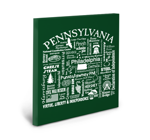 Pennsylvania Location (Spruce) Gallery Wrapped Canvas