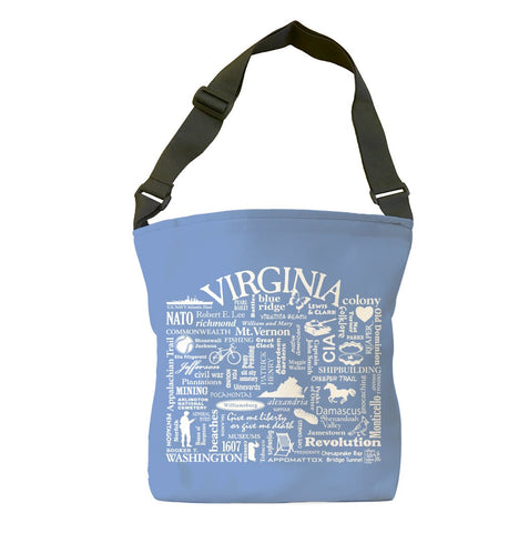 Virginia Location (Flo Blue) Tote Bag