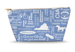 Virginia Location (Flo Blue) Large Accessory Bag