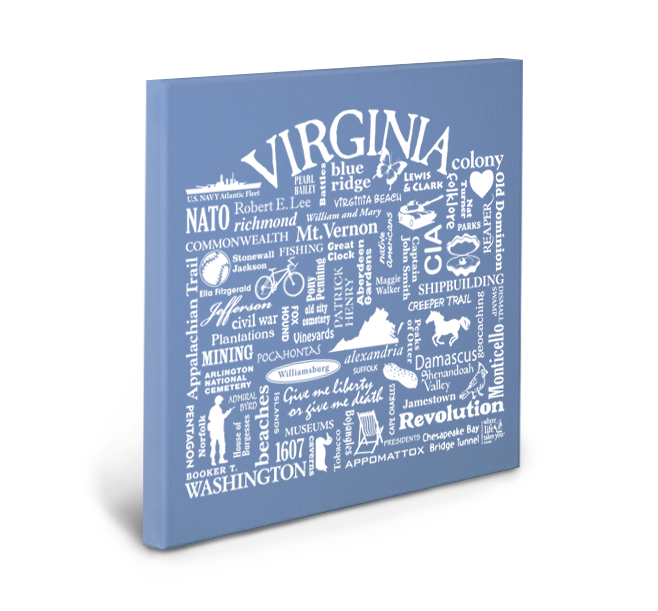 Virginia Location (Flo Blue) Gallery Wrapped Canvas