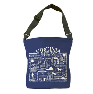 Virginia Location (Navy) Tote Bag