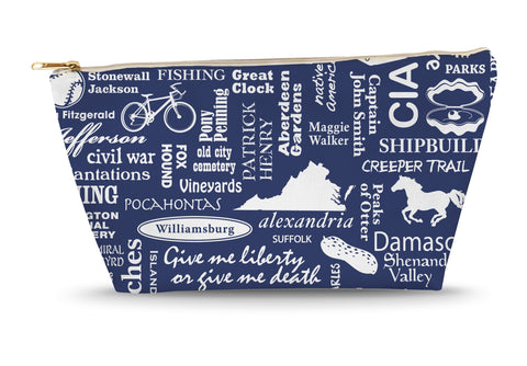 Virginia Location (Navy) Large Accessory Bag