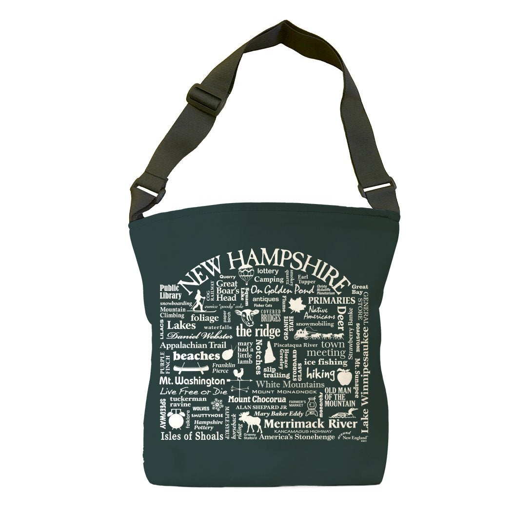 New Hampshire Location (Pepper) Tote Bag