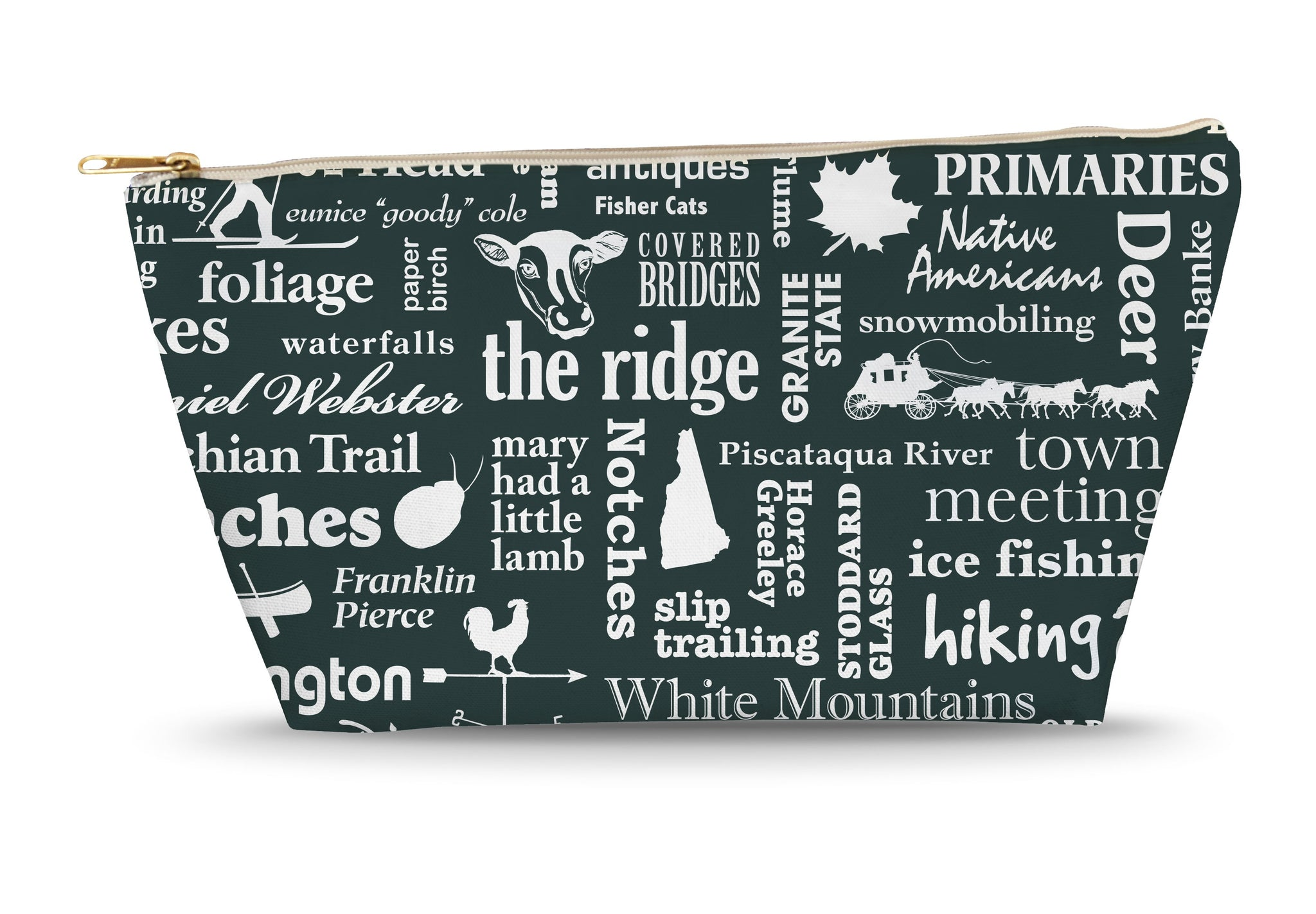 New Hampshire Location (Pepper) Large Accessory Bag